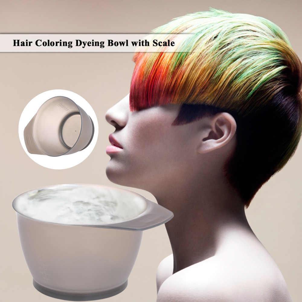 Cuenco de tintura para colorear de pelo de barbero con escamas de plástico para pintura de crema