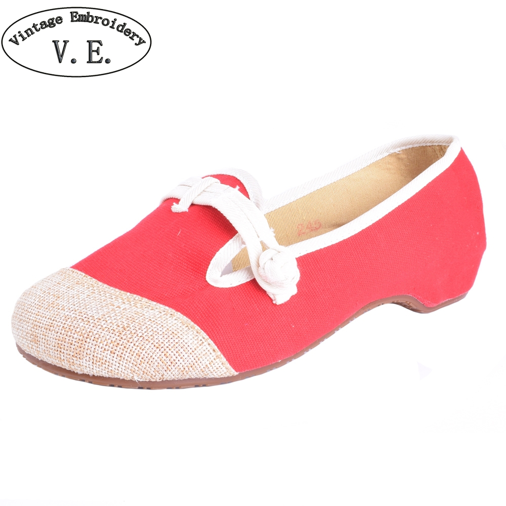 Vintage Embroidery Shoes Canvas Old Peking Cloth Flats Chinese National Style Soft Sole Casual Shoes Women Dance Single Shoes chinese women flats shoes flowers casual embroidery soft sole cloth dance ballet flat shoes woman breathable zapatos mujer