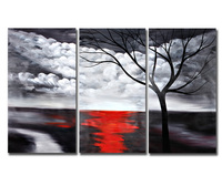 Hand painted high quality oil paintings made by professional artist Landscape tree realistic oil painting home decoration