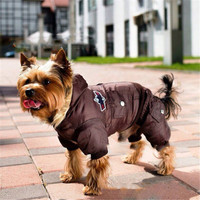 2016 Dog Warm Winter Coat Jacket USA AIR FORCE Waterproof Puppy Hoody Clothes Dogs Kitten Puppy