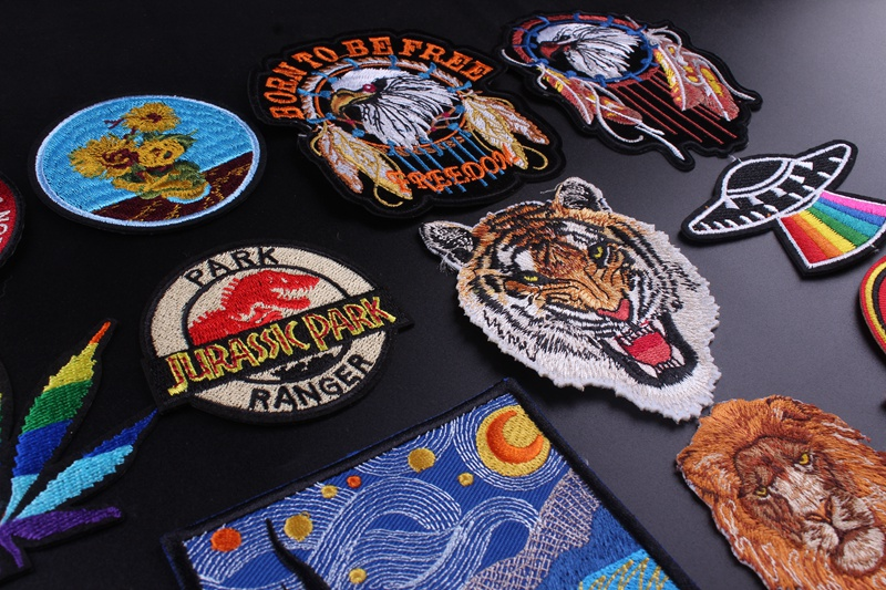 HTB1moG1VHrpK1RjSZTEq6AWAVXaM Prajna Star Wars Embroidered Patches For Clothes Stickers Stripes Hippie Patch Groot Iron On Patches Applique Sticker Galaxy