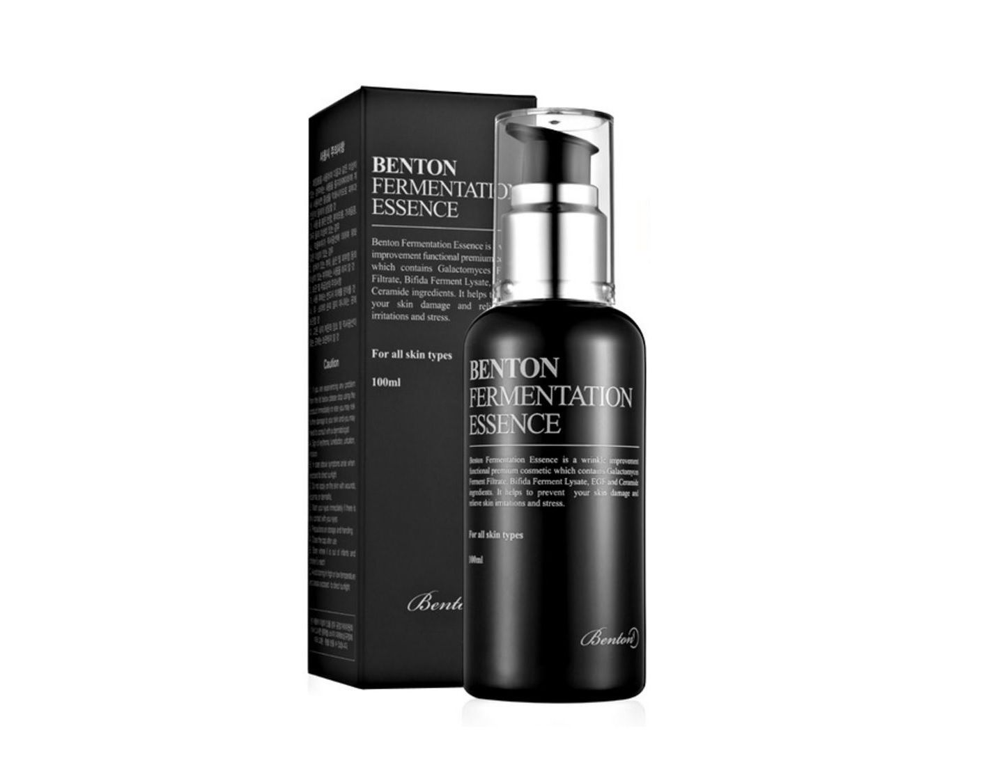 BENTON Fermentation Essence 100ml Face Essence Facial Skin Care Alleviate Winkles Moisturizing Cream Whitening Serum Remove Acne in essence 100ml