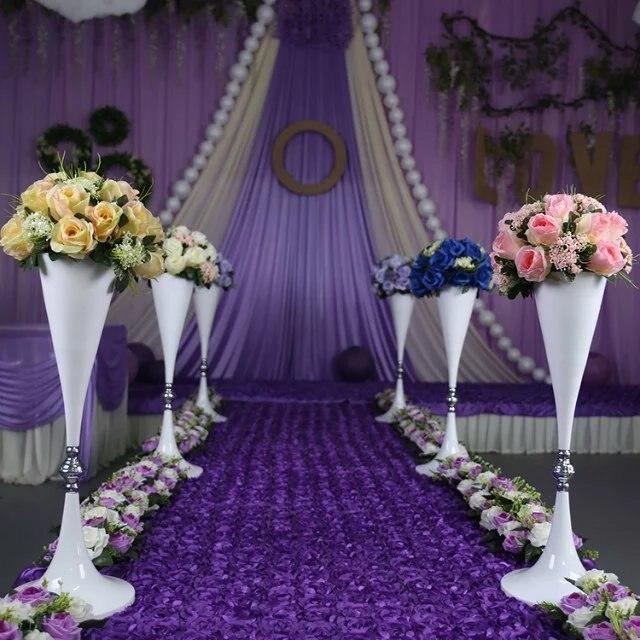 AliExpress & US $330.0 |garden flower pot mental vase wedding table centerpieces or festival decoration home \u0026 garden-in Glow Party Supplies from Home \u0026 Garden on ...