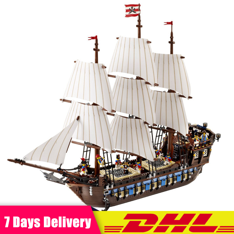 Compatible LegoINGLY 10210 Pirate Ship Warships Model Building Kits Blocks Bricks Educational Creative Toys For Kids Gifts