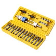 20 шт. полуторная дрель-шуруповерт, набор отверток, обновленная версия, 16 различных видов головок с потайной головкой, торцевой гаечный ключ