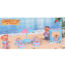 Mini Deck Chairs Beach Umbrella for Dollhouse Scenes Supplies / Photography Props Accessories(China)