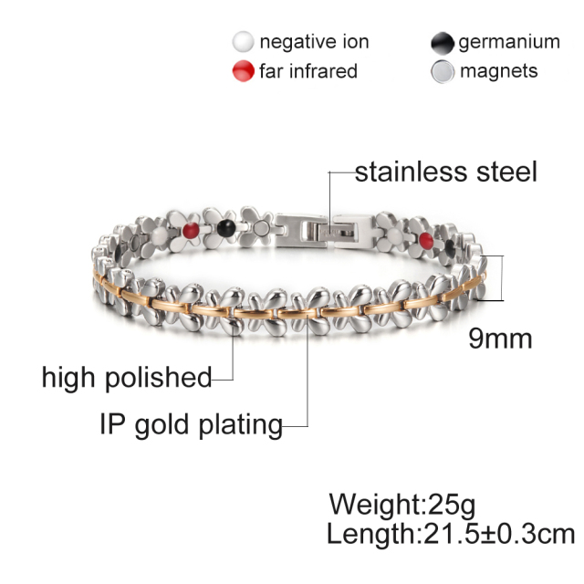 Women Flower Energy Germanium Hologram Bracelet
