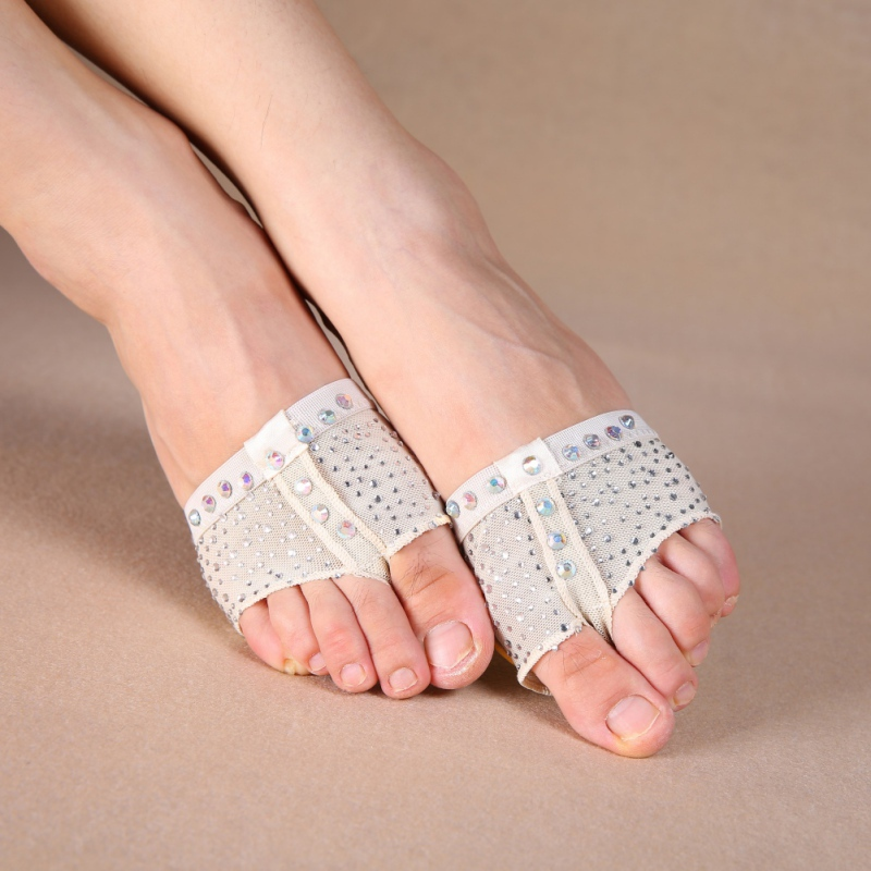 One Pair Diamond Shoes,Dance Paws, Foot Thongs, Toe Undies, Half Lyrical Shoes S/M/L/XL SH1