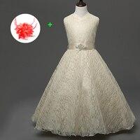 أزياء الحرير الاطفال اللباس المسابقة 8 إلى 15 سنوات الأطفال القديمة بنات حفل زفاف الكرة أثواب زهرة فتاة اللباس الذهب الأبيض الأحمر الأزرق