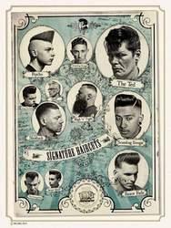 Vintage Hairdresser Tattoos Patterned Posters Kraft paper Interior Painting Restoring Wall Sticker Barber Shop Decoration