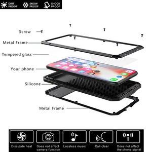 Image 3 - Armadura à prova de choque de Metal de Alumínio Caso de telefone para o iphone 11 XS Pro MAX XR X 7 8 6 6S Plus 5S 5 SE 2020 Bumper Capa de Proteção Integral