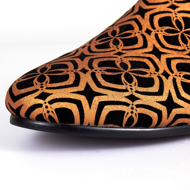 Azul 14 New Arrival Homens laranja Brilhantes Flats Casuais Sapatos Shoes 7 Impresso Loafer Harpelunde Tamanho n01qYOx17