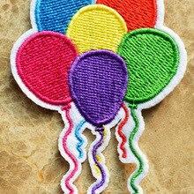 ГОРЯЧАЯ SALL!~ шесть цветов шар букет праздник день рождения гладить на Нашивки, пришить патч, Аппликации, из ткани, качество