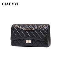 GIAEVVI Luxury Genuine Leather Handbag Women Messenger Bags Famous Brands Women Crossbody Bag Candy Color Chain Shoulder Bags