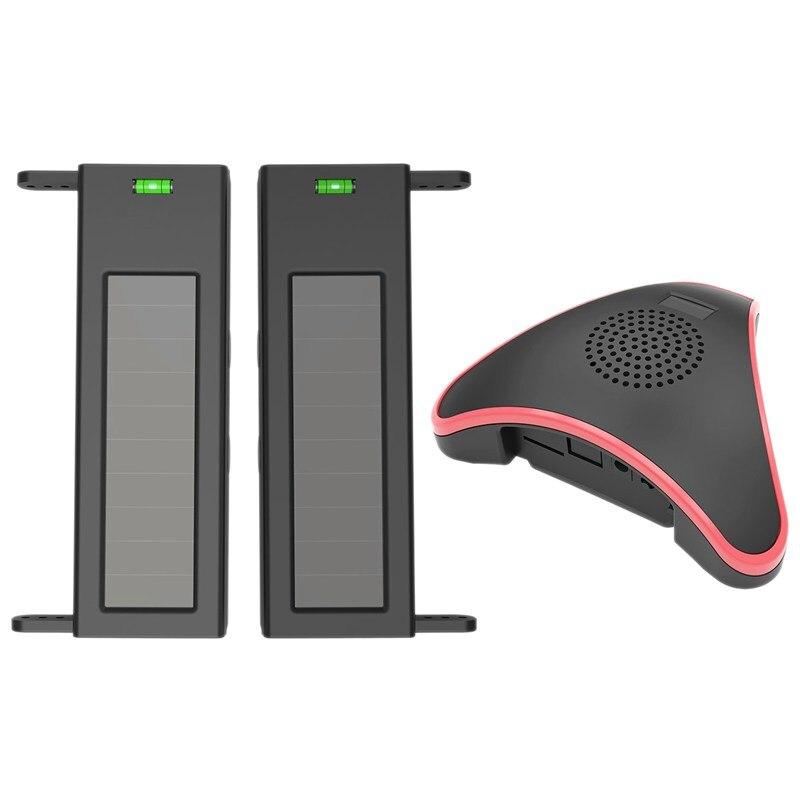 Solar Wireless Driveway Alarm System- 1/4 Mile Long Transmission Range- 190 Feet Wide Sensor Range- No Wiring No Need Replace