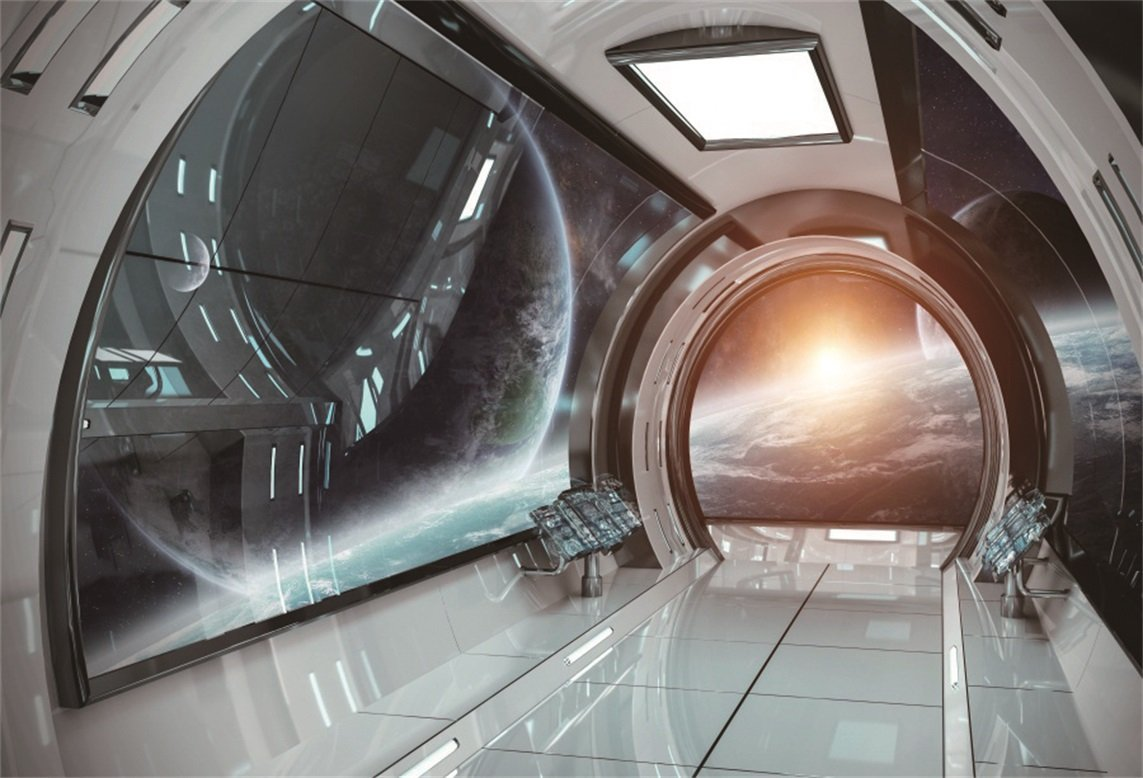 Spaceship Interior Cosmic Futuristic Bright Backdrops Vinyl Cloth High  Quality Computer Print Wall Background In Background From Consumer  Electronics On ...