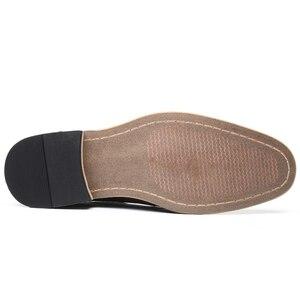 Image 3 - YIGER chaussures habillées pour hommes, nouvelle collection, chaussures formelles, à lacets, grande taille, en cuir véritable, augmentation, chaussures pour hommes, 0301