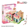 Children favorite Toy gift New arrival 3d puzzle model p615h Warm Villa my home house free shipping