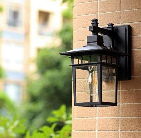 lampada de parede luzes do jardim ao