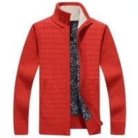 AmberHeard Autumn Winter Men Wool Cashmere Cardigan Zipper Sweater Fashion Mens Warm Thick Plaid Knitwear Pullover Sweater M 3XL