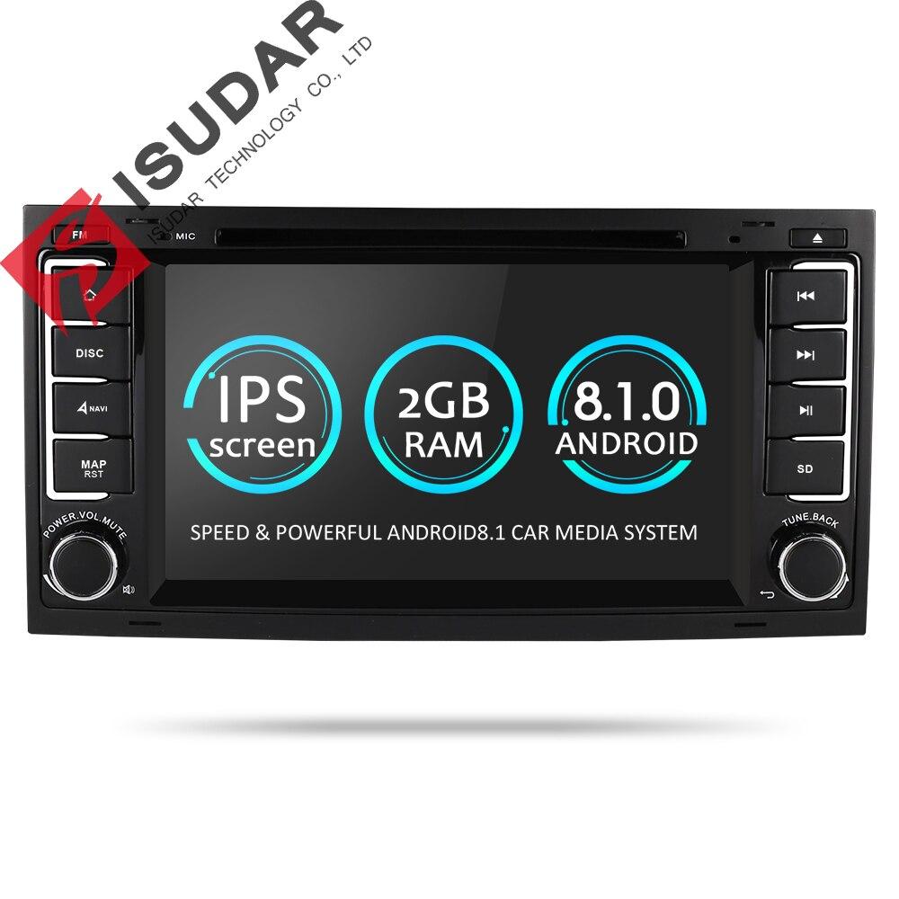 Isudar Voiture Lecteur Multimédia Android 8.1.0 2 Din DVD Automotivo Pour VW/Volkswagen/Touareg/Transporteur T5 Radio GPS 4 Core 2g RAM