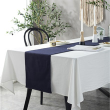 CFen As Nordic Simple Style Cotton Tablecloth Solid White Quality Table Cover Tea Cloth Kitchen Dining Place Mats 1pc