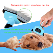 Dog Combs Hair Remover Cat Brush Grooming Tools PP TPR Handle Beauty Brush Detachable Clipper Pet Trimmer Combs For Pet Supply