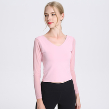 WBTRO sexy shirt women Gym Shirt Fitness Clothes Backless Sport Top Long Sleeves Short Design Top Yoga Shirt Free Shipping red slit design bateau long sleeves top