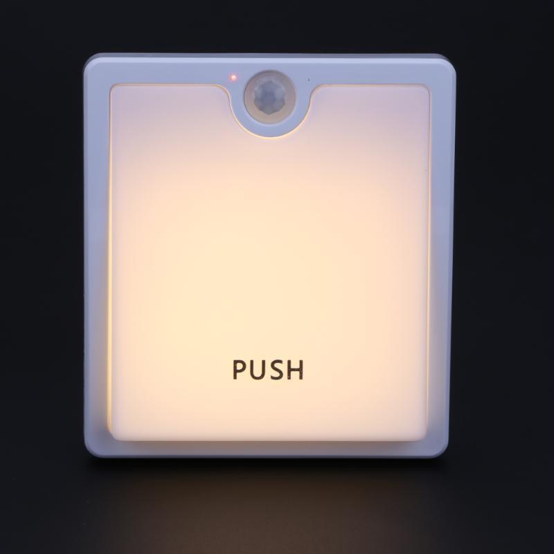 16LED Switch Square Shape Nightlight Battery Lamp Induction Motion Sensor Wall Lamp for Corridor Bedroom Cabinet Christmas light