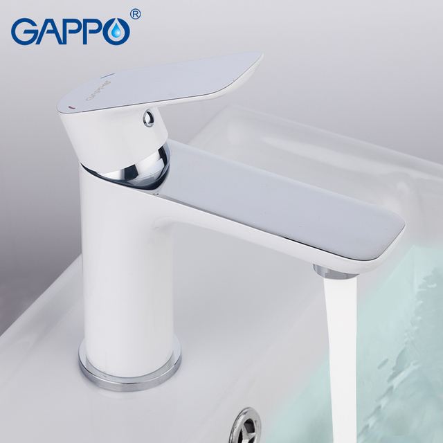 Grifo de lavabo de latón blanco grifo de lavabo de baño grifo mezclador de cascada grifo de agua kranen torneira para Baño