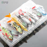 DONQL Soft Lure Kit Set Wobblers Pesca Artificial Bait Silicone Fishing Lures Sea Bass Carp Fishing Lead Fish Jig