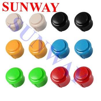 12 Uds. Botón redondo de buena calidad de 24mm/botón de arcade con interruptor, botones para Máquina de juego de salón recreativo controlador de arcade DIY