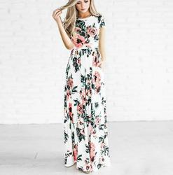 Summer long dress print floral maxi dresses pencil body dress jurk party beach dresses vestidos de.jpg 250x250