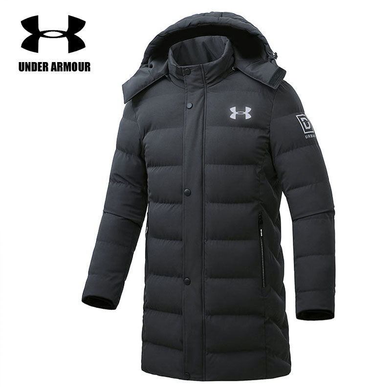 Under Armour Men training jackets winter brand warm long cotton jackets outdoor windproof clothes abrigo hombre L-5XL hot sale цены онлайн