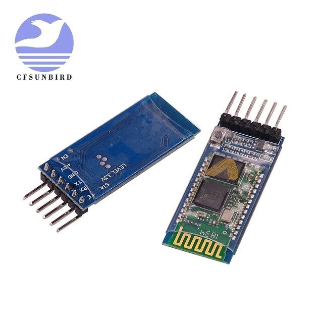 50 stks/partij HC 05 HC 06 master slave anti reverse, geïntegreerde Bluetooth seriële doorwerking module, draadloze seriële voor arduino