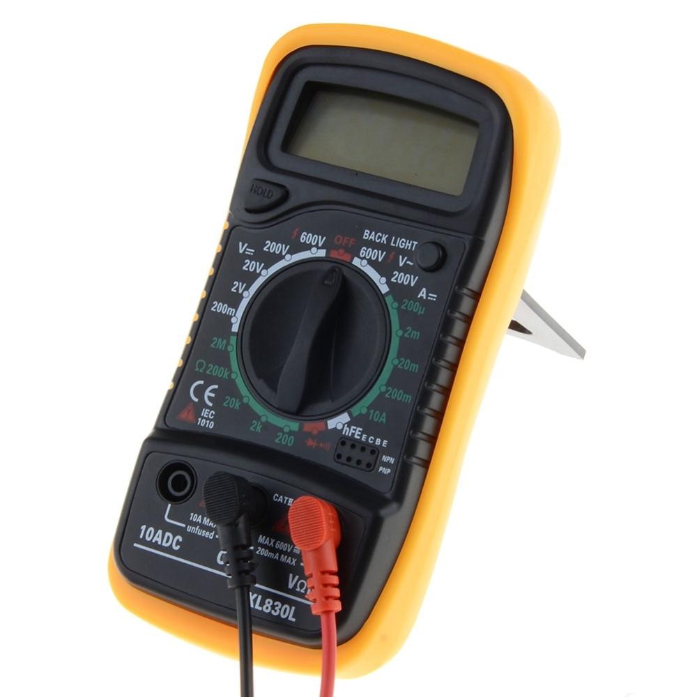 Portátil multímetro Digital de Fondo AC/DC voltímetro amperímetro Ohm probador del metro XL830L de LCD Multimetro
