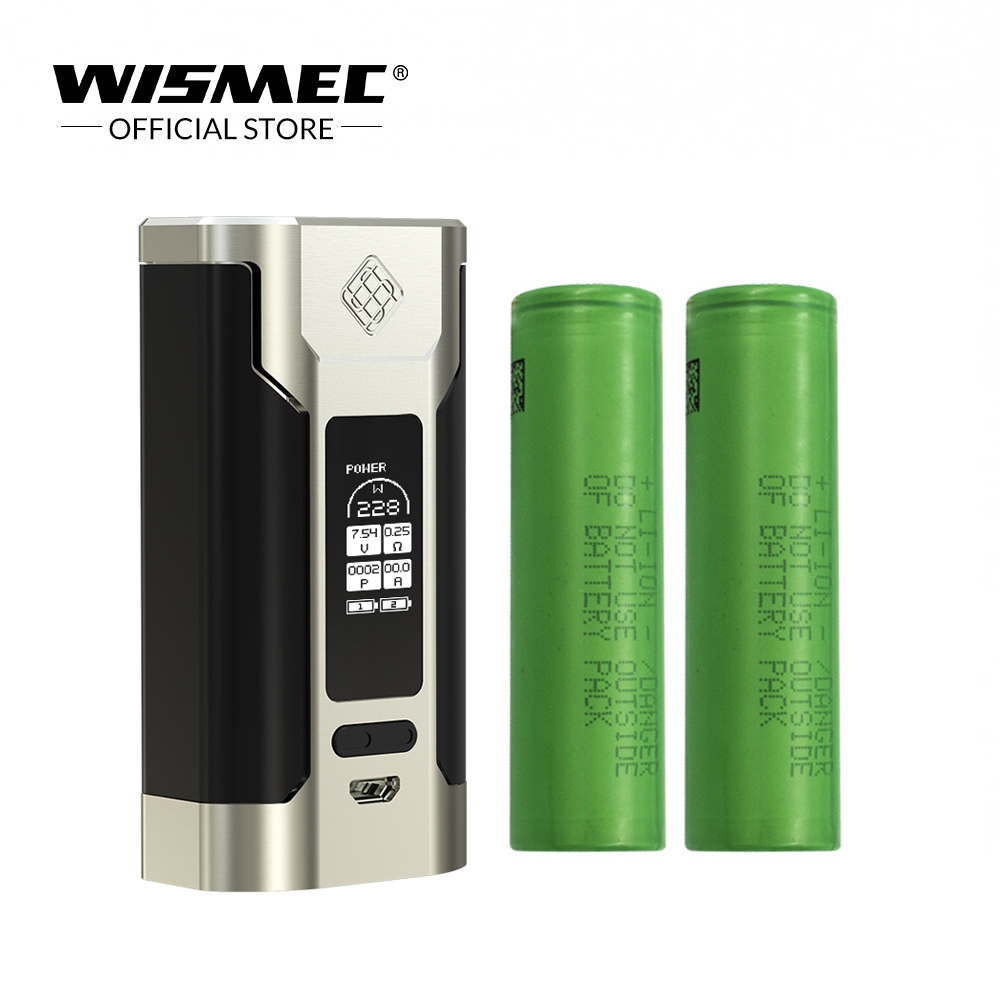 [Official Store] Original Wismec Sinuous P228 TC Box Mod 228W output Mod Box with 18650 Battery Electronic cigarette vape mod [official store] original wismec reuleaux dna250 mod box temperature control box mod electronic cigarette vape mod kit