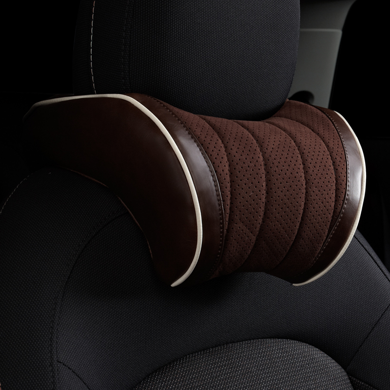 Car Headrest PU Leather Head Neck Protection Rest Cushion Pillow For MINI Cooper JCW One S R60 F60 Interior Styling Accessories