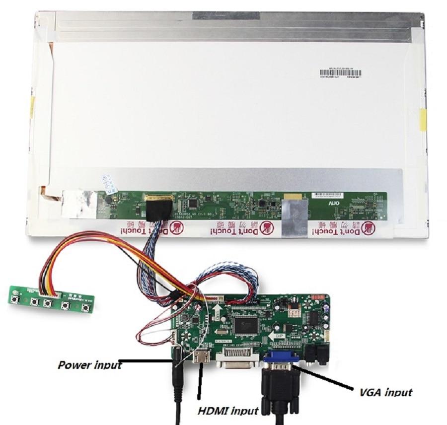 Image 3 - Kit for B156XW02/LTN156AT02 Controller board Panel Screen VGA DVI  HDMI LCD 15.6 LVDS 40pin Monitor M.N68676 1366X768 LED DIYLaptop  Repair Components