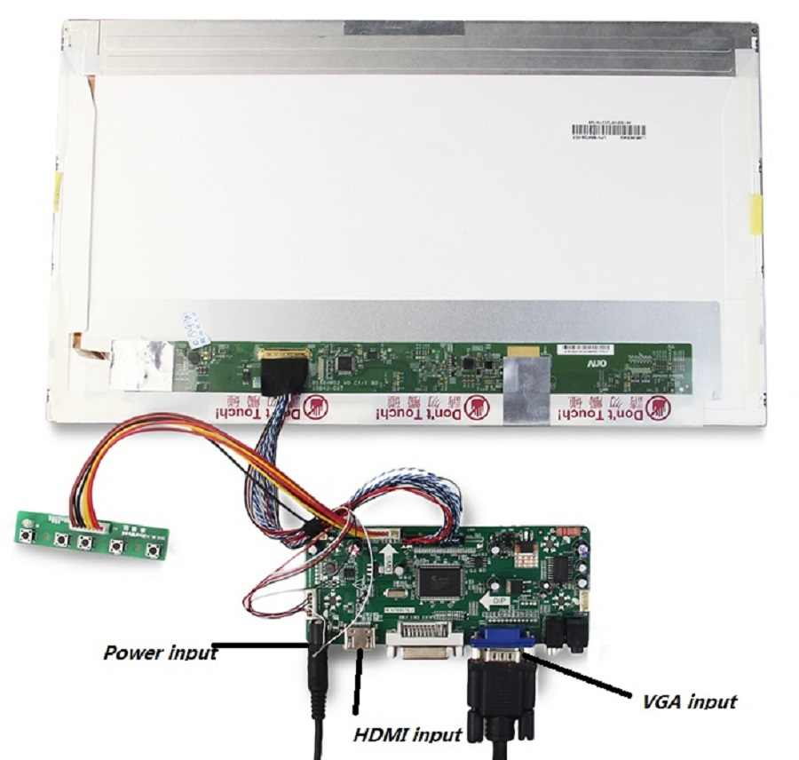 "Voor LTN173KT01-H01 Lcd Led Monitor Card Driver Board 1600X900 Dvi Lvds Panel Screen Vga Hdmi 17.3 ""Controller Kit"