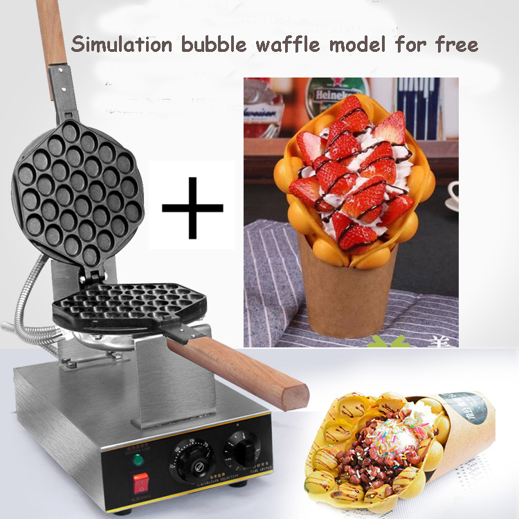 Directly factory price China bubble waffle machie egg waffle machine bubble egg waffle plus free Simulation bubble waffle model все цены