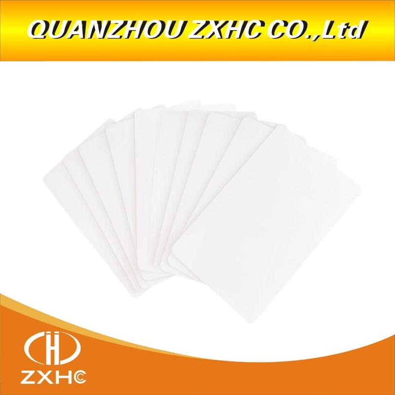 (10PCS) ISO 15693 I-code Slix (Icode2) RFID CR80 PVC White Card