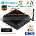 Dupla Nics Gigabit Lan J1900 Linux Mini PC 2 GB RAM 16 GB SSD 300 M WIFI Media Player 3 anos de garantia de 134 * 134 * 36 MM