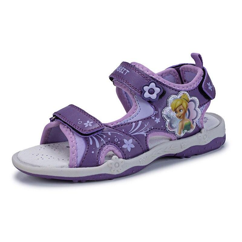 2018 neue Baby Mädchen Sommer Sandalen Hausschuhe Kleine Kinder Wedges Med ferse Klassische Rutschen Cartoon Komfortable Mädchen Schuhe-in Sandalen aus Mutter und Kind bei title=