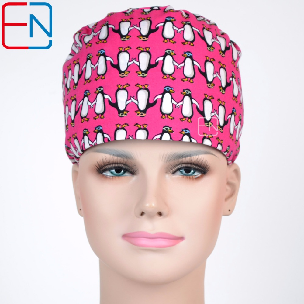 Surgical Caps With Sweatbands Penguin