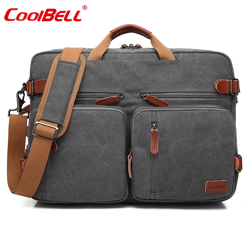 CoolBELL 17.3 Inch Convertible Notebook Bag Backpack Men Laptop Bag Business Multifunctional Travel Rucksack Bag For Teenagers coolbell 18 4 inch backpack laptop bag travel rucksack waterproof hiking knapsack protective day pack for men women