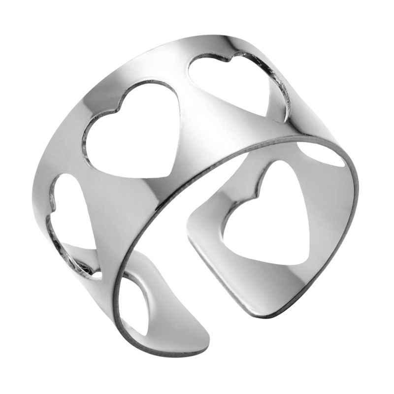 Rinhoo موضة جديدة بسيطة الذهب والفضة المفصل الدائري قابل للتعديل فتح خاتم الاصبع هدية للنساء الإناث المجوهرات الرائعة