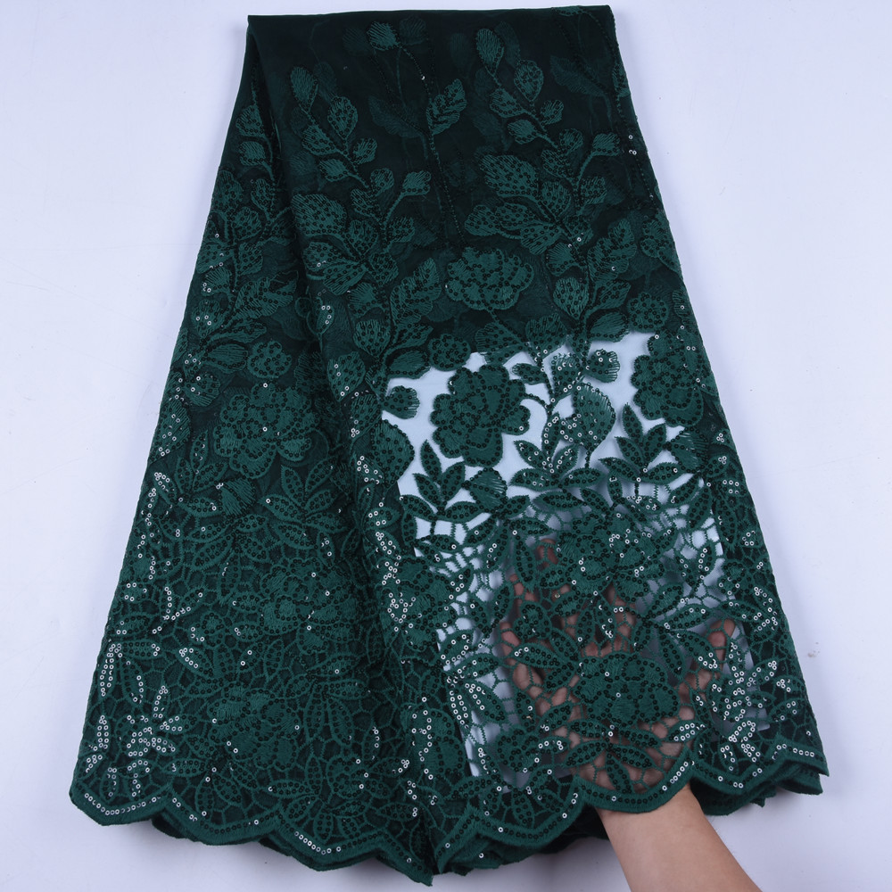 African Milk Silk Lace Embroidered Nigerian Laces Fabric High Quality French Tulle Lace Fabric For Sewing