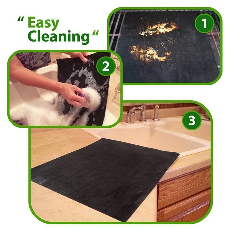 1pc BBQ Grill Mat Barbecue Outdoor Baking Non-stick Pad Reusable Teflon Cooking Plate 40 * 30cm For Party PTFE Grill Mat Tools,Q