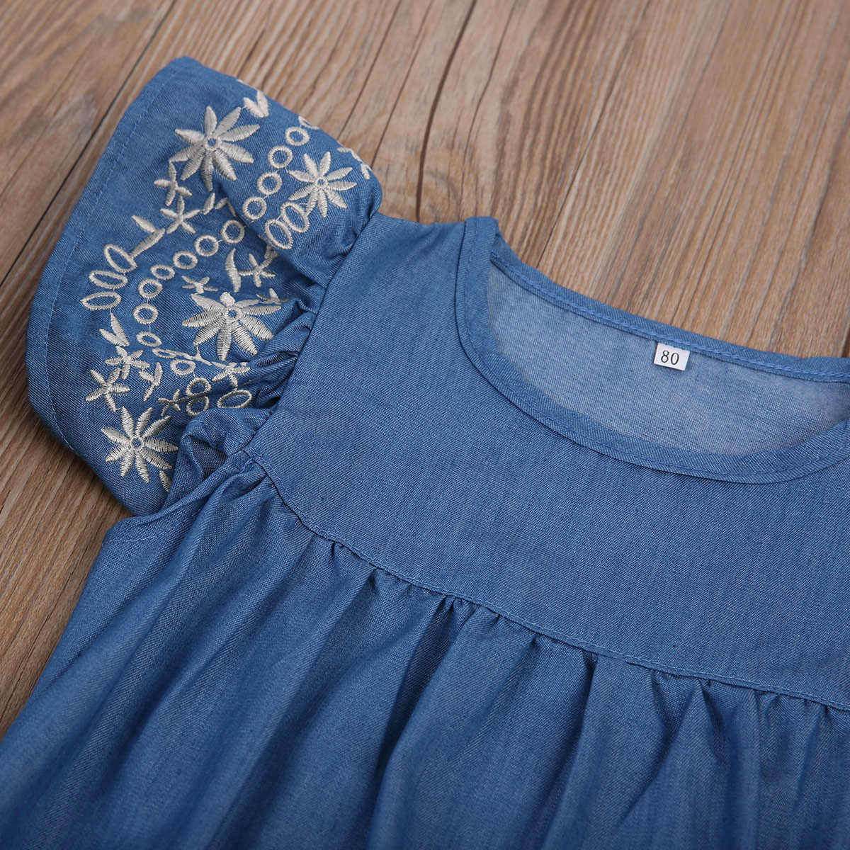 Yaz Bebek Bebek Kız Giysileri Denim Bodysutis Yürüyor Çocuk Tulum Sunsuit Kıyafet Seti Giyim
